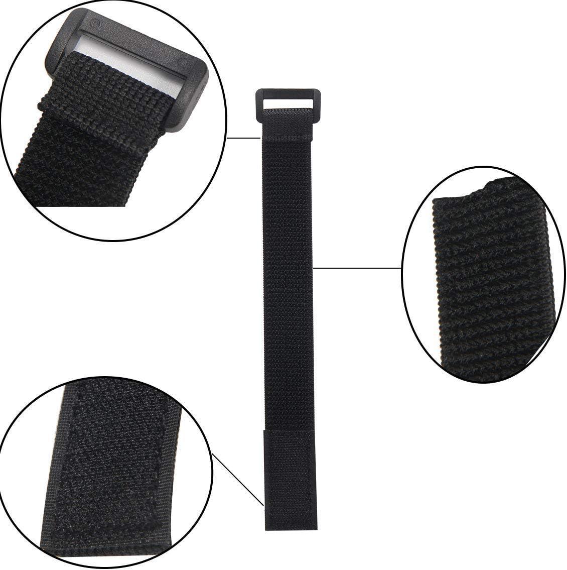 4 tailles diff/érentes Serre-c/âbles Velcro Attaches de c/âbles r/éutilisables pour une utilisation polyvalente dans la gestion des c/âbles noir