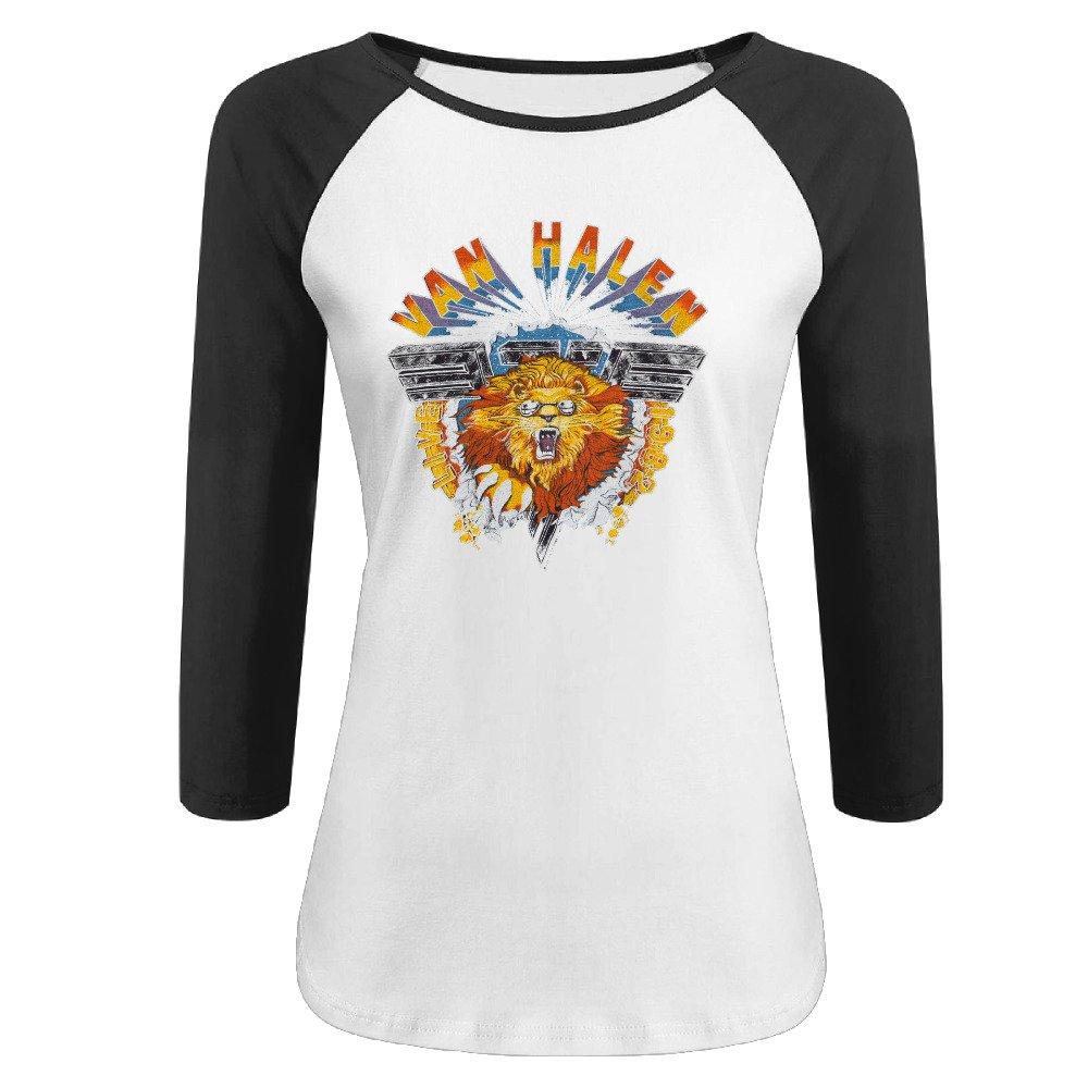 cb5c896665 Amazon.com  Ladies Van Halen Logo 3 4 Sleeve r n Raglan Shirts Tee Shirts  (6311142009801)  Books