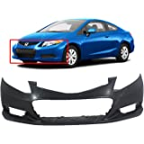 DAT AUTO PARTS Front Bumper Cover Spacer Replacement FOR12-15 Honda Civic Coupe Sedan 4DR Black Left Driver Side HO1042112