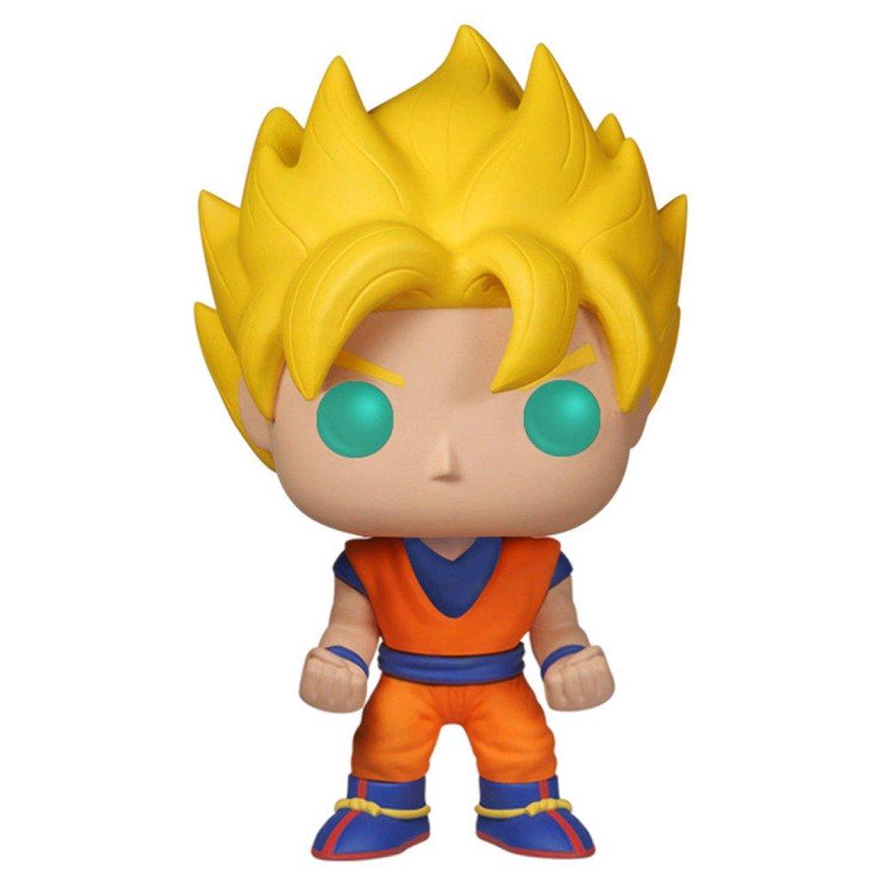 Anime Dragonball Z Glow In The Dark Super Saiyan Goku Action Figure EE Exclusive 3807 Funko POP