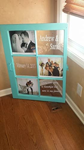 Amazon.com: wedding picture frame - wedding window - old wood ...
