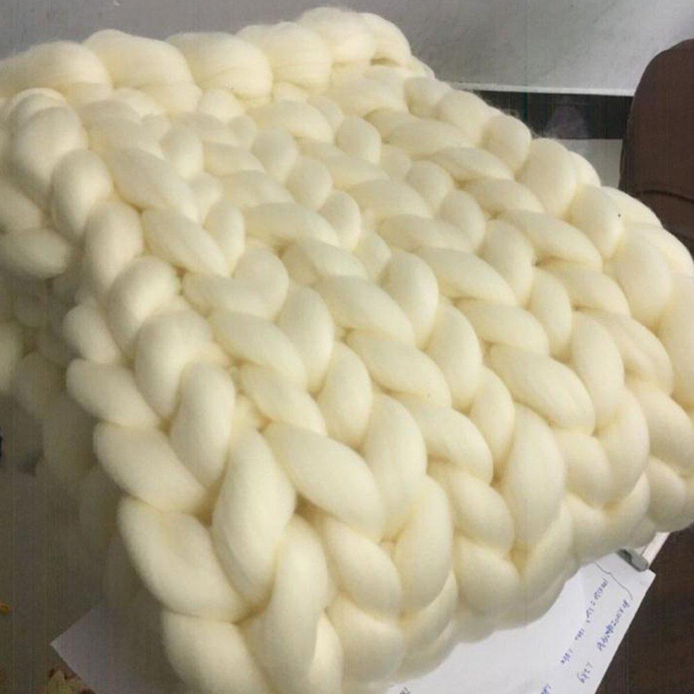 51x67in Chunky Blanket Wool Blanket 100 % Merino Wool Knit Blanket Giant Throw Super Big Bulky Arm Knitting Home Decor Birthday Gift