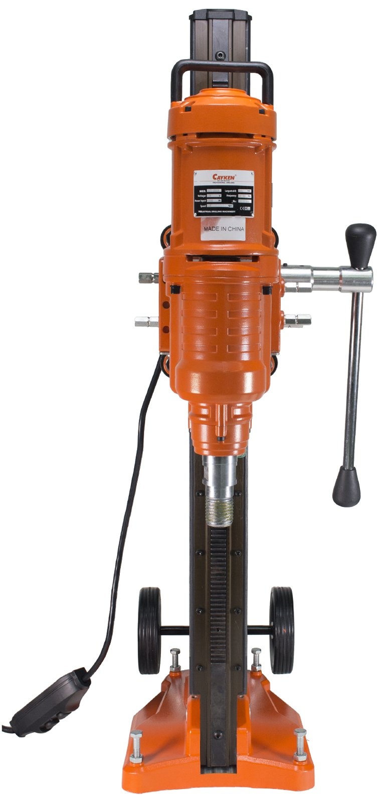Cayken 10in. Diamond Core Drill Rig with 580F Adjustable Angle Vacuum Plate Stand