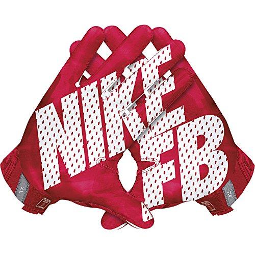 Nike Vapor Jet 3.0 American Football Handschuhe Receiver - University Red/Gym Red/Black/White (Medium)