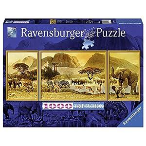 Ravensburger 19375 2 Trittico Panorama Viaggio In Africa Puzzle 1000 Pezzi