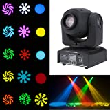 Lixada Moving Head Light 8 colors and 8 gobos Spot Light led sound activated professional 9/11 channel Stage Light for…