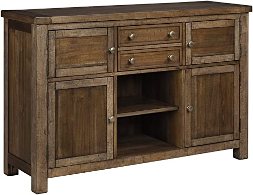 Ashley Furniture Signature Design – Moriville Dining Room Server – Grayish Brown