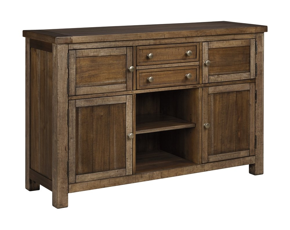 Ashley Furniture Signature Design - Moriville Dining Room Server - Grayish Brown