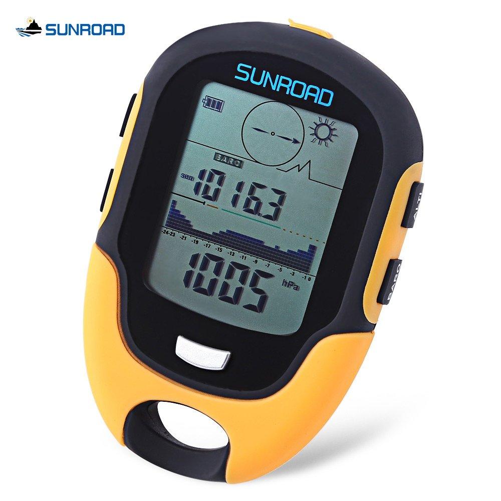 SZYT Outdoor equipment Multifunctional altimeter altitude flashlight temperature and humidity altitude pneumatic compass