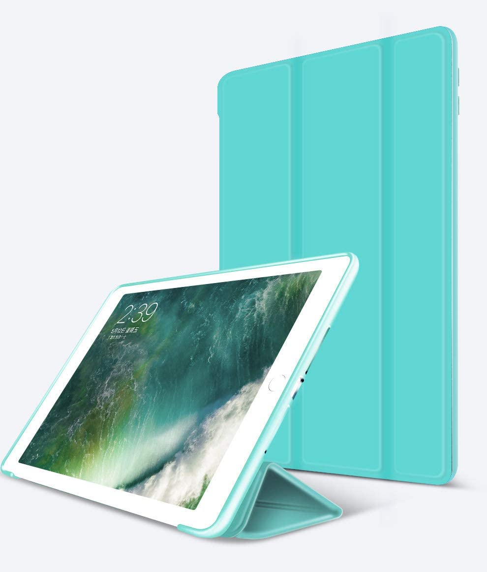 iPad 9.7 inch 2018 2017 Case/iPad Air Case/iPad Air 2 Case/ipad air 3 case, Ultra Slim Lightweight Stand Protective Case Shell with TPU Soft Silicone Stand for Apple iPad Air/iPad Air2 /air 3(Green)