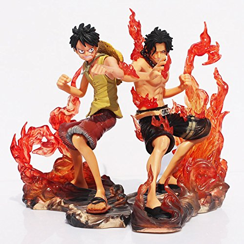 One Piece Luffy VS Ace 2pcs/set Japanese Anime Cartoon 2 Years Later PVC Action Figure Toys Dolls15CM one-16