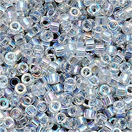 Silver Lined Opal White 5 grams Miyuki\u00ae Delica Japanese Glass Seed Beads size: 110 DB-11-221