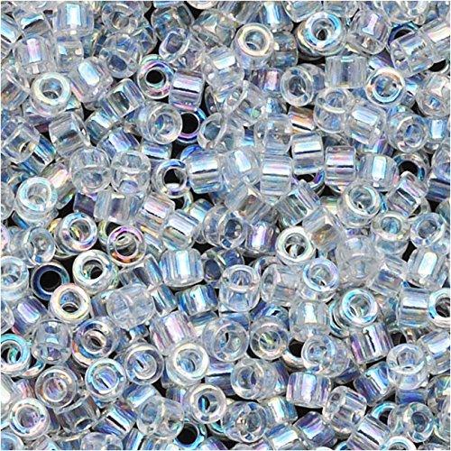 Miyuki Delica Seed Beads 11/0 Crystal AB DB051 7.2 ()