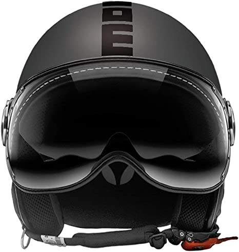 Image of10010030293 Casco Momo Fighter Evo Titanio Frost Decalc negro S Small FGTR EVO TITANIUM FROST/BLACK