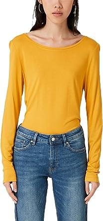 Q/S designed by 2005709016 Camisa Manga Larga, Amarillo (Honey 1396), 42 (Talla del Fabricante: Large) para Mujer: Amazon.es: Ropa y accesorios