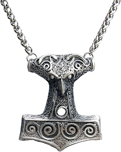 Rocker Jewelry Thor/'s Hammer Mjolnir Pendant Necklace Jewelry for Men Viking Necklace Fantasy Jewelry Viking Jewelry