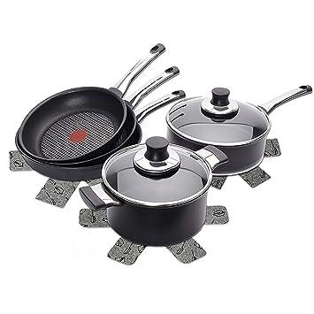 QEES - Protectores para sartenes, 12 unidades, 3 tamaños, accesorios para utensilios de cocina suaves MZGD01: Amazon.es: Hogar