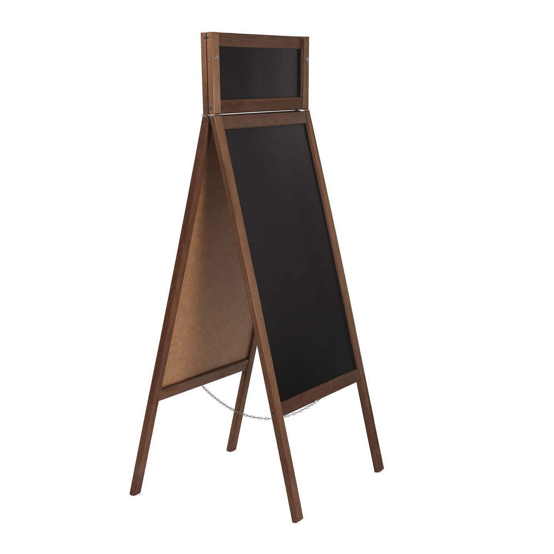 Lavagna pubblicitaria su entrambi i lati 40x53 cm in legno 164x61 cm