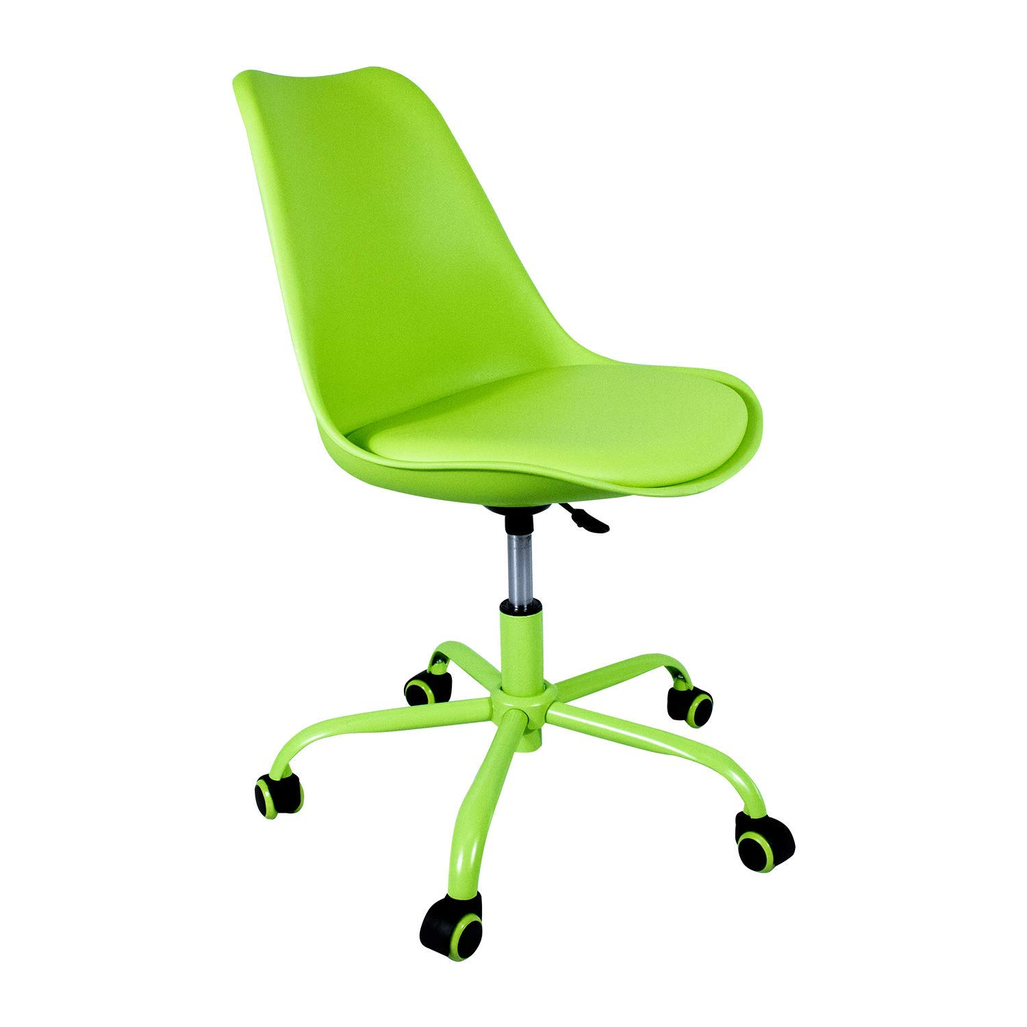 Strange Weinerbee Rolling Desk Chair With Wheels Height Adjustable Computer Chair For Kids Green Caraccident5 Cool Chair Designs And Ideas Caraccident5Info