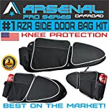 #2: Arsenal Pro RZR Door Bags for Polaris RZR XP 1000 Turbo XP4 900XC S900, Off road Side Storage Door Bags with Knee Pad Protection (1 Pair)