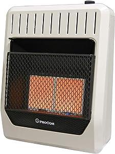 ProCom MN2PHG Heating Natural Gas Ventless Infrared Plaque Heater, 20,000 BTU, Black