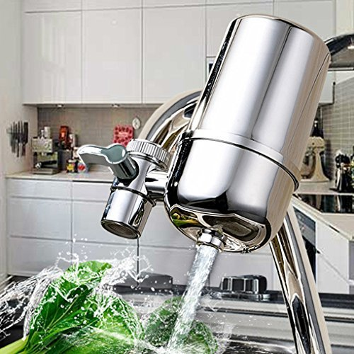 Kabter Faucet Mount Water Filter System Tap Water Filtration Purifier,Chrome KN1