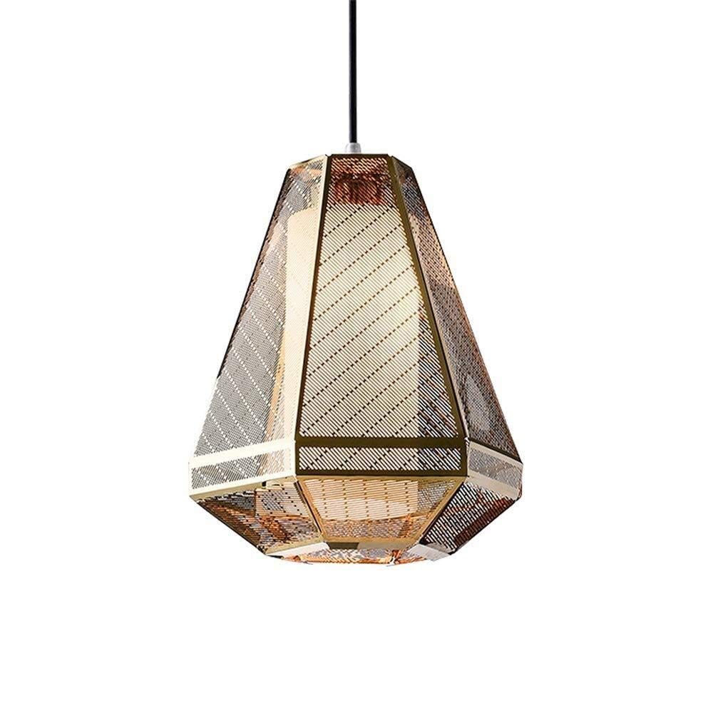 SUN HUIJIE Household Metal Chandeliers, Golden Glass Lighting Living Room Ceiling Lamps Bedroom Cafe Dining Table Pendant Light (Color : A)