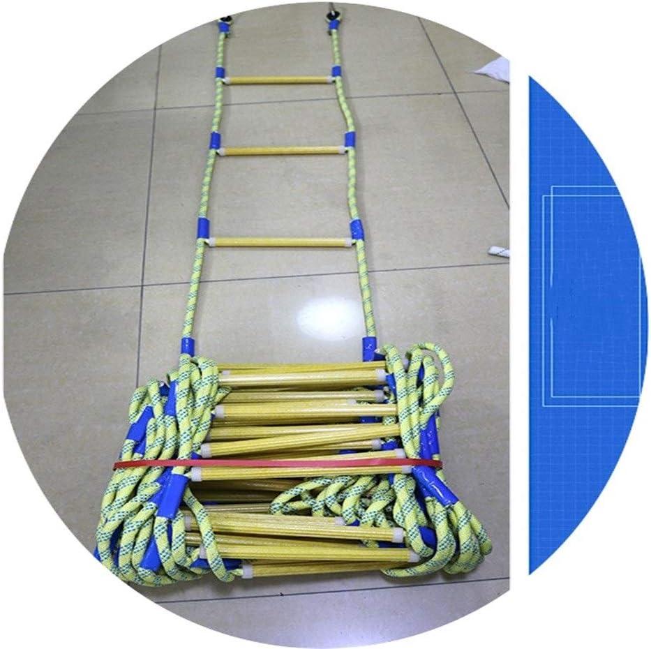 Xiaoft - Escalera de emergencia, escalera de resina, aislamiento, escalada, cuerda de escalada, antideslizante, escalera de aire, escalera de trabajo, escalera de fuego, 5 m, 10 m, 15 m, 20 m: Amazon.es: Bricolaje y herramientas