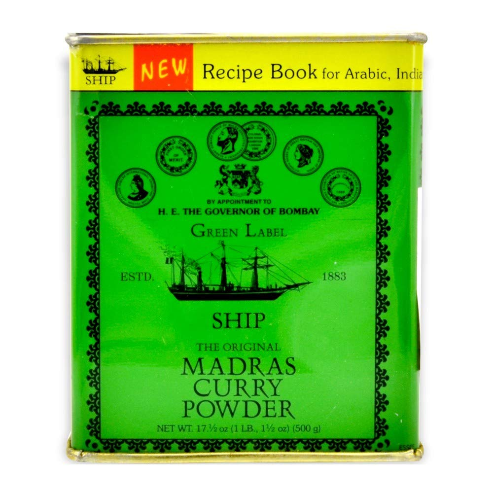 Ship Brand Madras Curry Powder in can, 500-gram (pack of 1)
