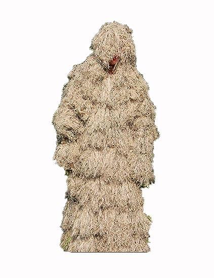 Poser Ghillie Suit Camuflaje Desierto 3D Camuflaje Woodland ...