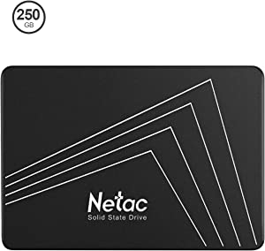 Netac 250GB SSD - Internal SSD 2.5Inch SATAIII 6Gb/s, 3D NAND Flash, Read Speeds up to 530MB/s, SLC Cache Performance Boost Digital Memory Internal Solid State Drive for PC/Laptop/Computer - N530s