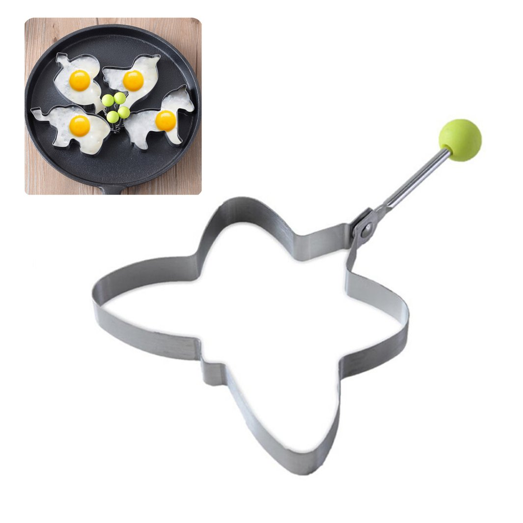 DEESEE(TM) Stainless Steel Fried Egg Shaper Pancake Mould Mold Kitchen Cooking Tools (E( 11×10.8×1.5cm))