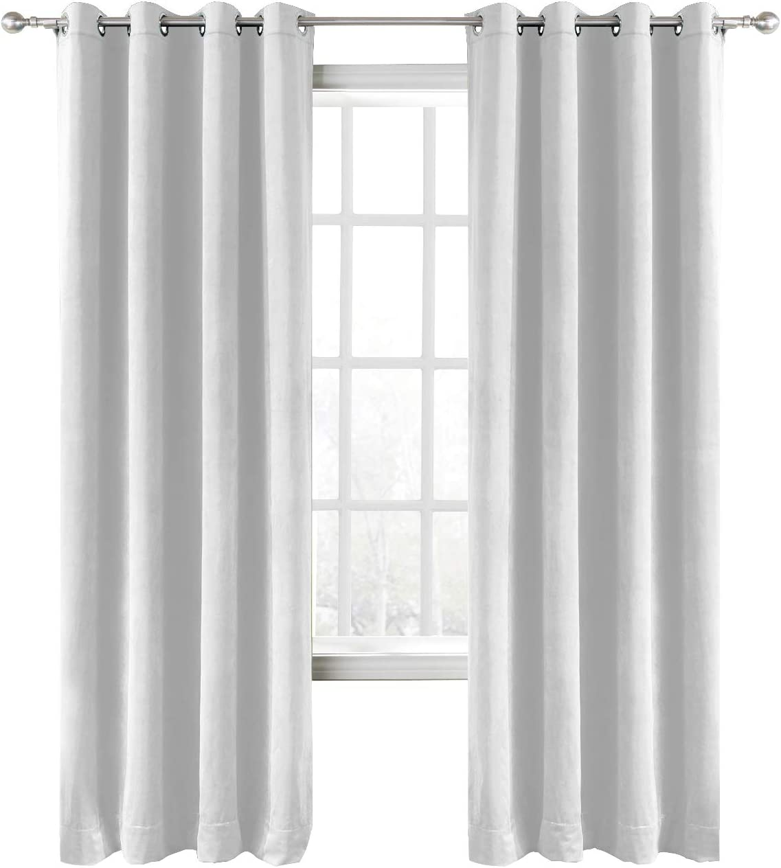 Financial sales sale ChadMade Extra Wide Blackout Lined Premium Velvet Popular standard Off Curtain Wh
