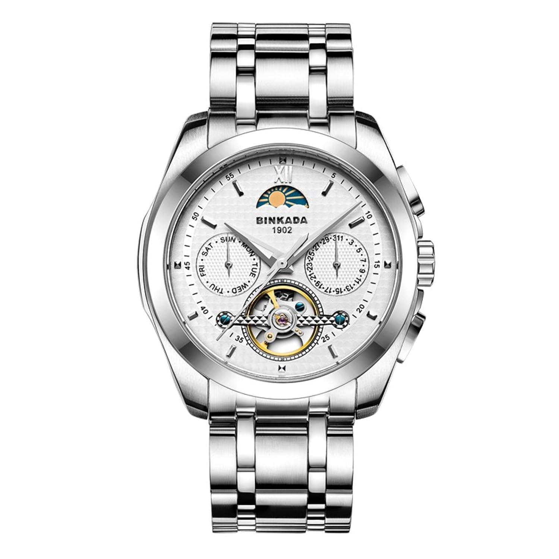 Automatische mechanische Uhren-Mode leuchtende Uhr-Wasserdichte Stahl Herrenuhr-A