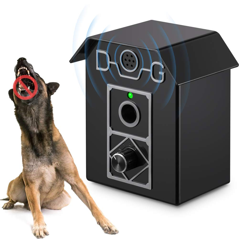 Kaier cat Anti Barking Device - Bark Box Outdoor Dog Repellent with Adjustable Ultrasonic Level Control Sonic Bark Deterrents, Bark Controller Up to 50 Ft. Range Safe for Dogs by Kaier cat