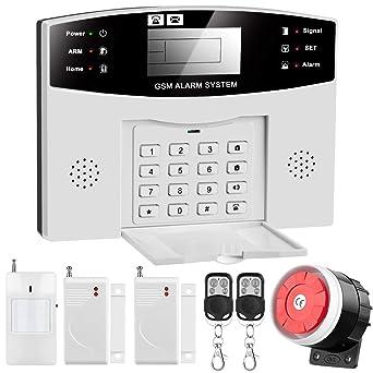 Sistema de Alarma GSM/SMS, LCD Pantalla de Menú en ...
