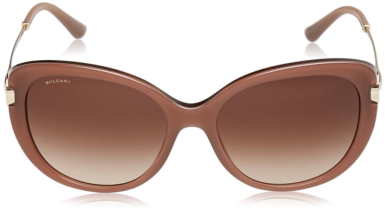 BVLGARI Damen Sonnenbrille 0BV8194B 543113, Beige (Try Layered Beige/Browngradient), 57