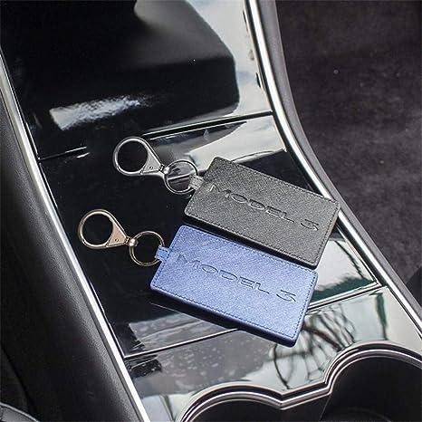 L U Leder Schlüssel Halter Schutz Abdeckung Schlüsselanhänger Zubehör Rot For Tesla Model 3 Küche Haushalt