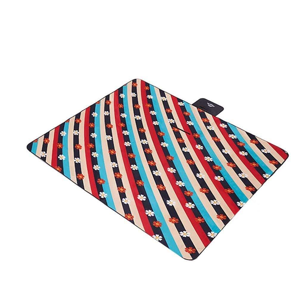 ZKKWLL Picnic Blanket Picnic mat Flocking Thick Waterproof mats Portable Outdoor mat Folding Spring Lawn mat Beach mat (Color : B) by ZKKWLL