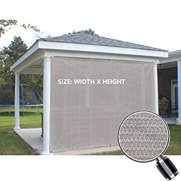 Alion Home Sun Shade Privacy Panel With Grommets On 2 Sides For Patio,  Awning,