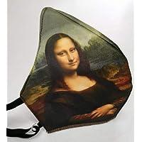 MEXI-K9 Cubrebocas lavable 4 capas Mona Lisa Leonardo da Vinci Gioconda