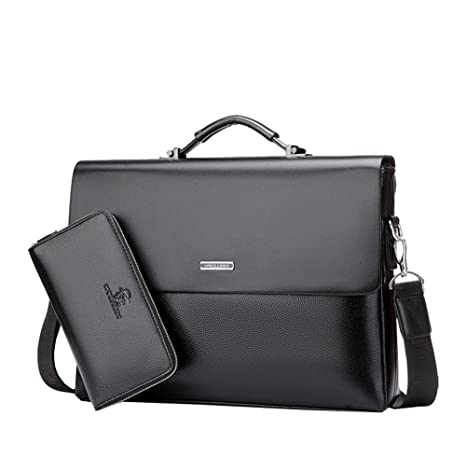c5cfa4f722b2 Amazon.com  Mioy Modern Men s leather Business Bag Water resistant shoulder  Messenger Bag 14