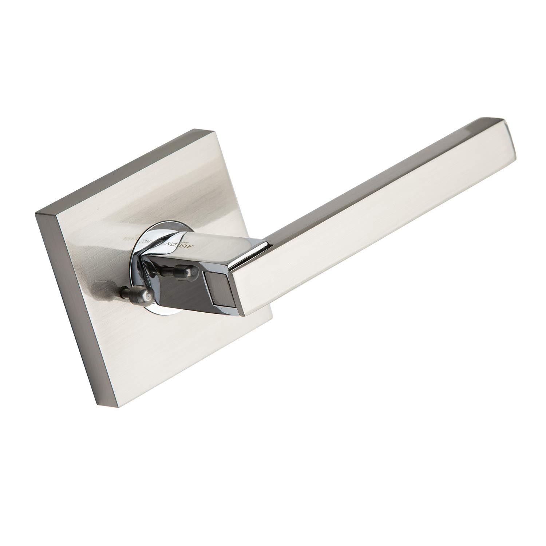 Avalon 0520 - Contemporary (Modern) Door Handle/Lever / Knob Set (Privacy/Passage) - Satin Nickel