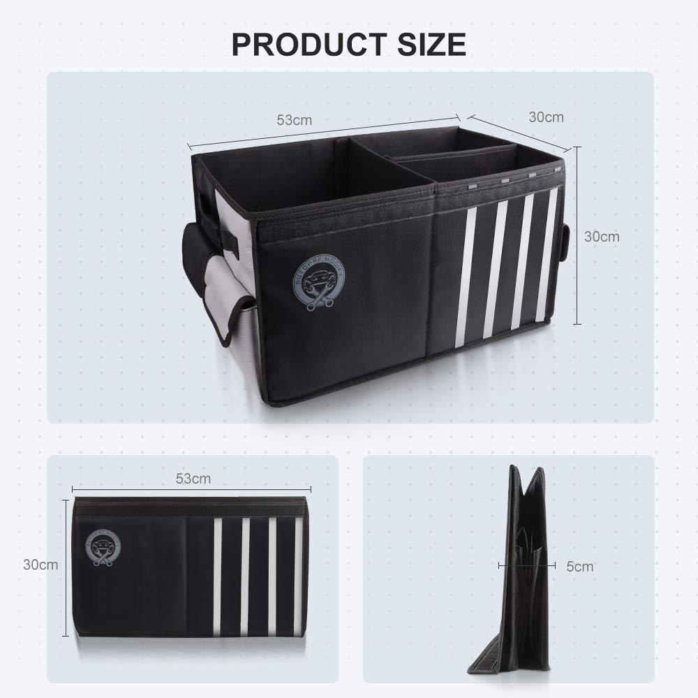 Autopre Modify Organizador Maletero Coche Negro Bolsa Maletero Coche con Bolsillos Laterales Compartimentos M/últiples Organizador Impermeable