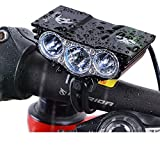 Nestling Solarstorm 1200Lm U2 XML CREE LED Mountain Cycle lights Front Bike lights Bicycle Light Headlamp Torch Headlight Rechargable Head Lights Flashlight 4×18650 Battery Rear Light (X3 Black) For Sale