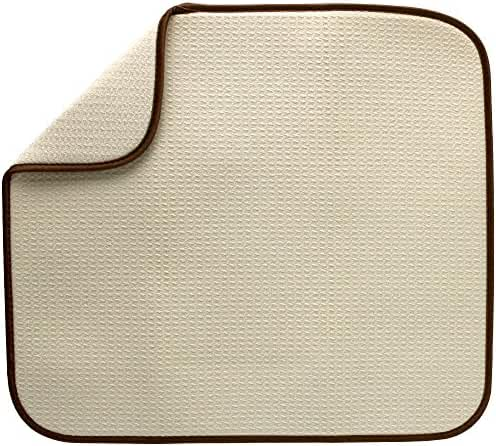 S&T 376900 Microfiber Dish Drying Mat, 16 by 18-Inch, Cream
