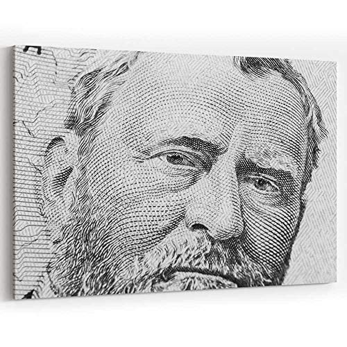 Close up View Portrait of Ulysses S Canvas Art Wall Dector for Modern Home Decor