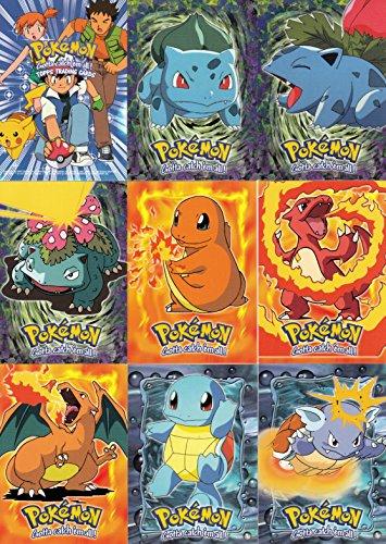 POKEMON THE FIRST MOVIE 1998 TOPPS COMPLETE BLACK LOGO BASE CARD SET OF 72 Photo - Pokemon Gaming