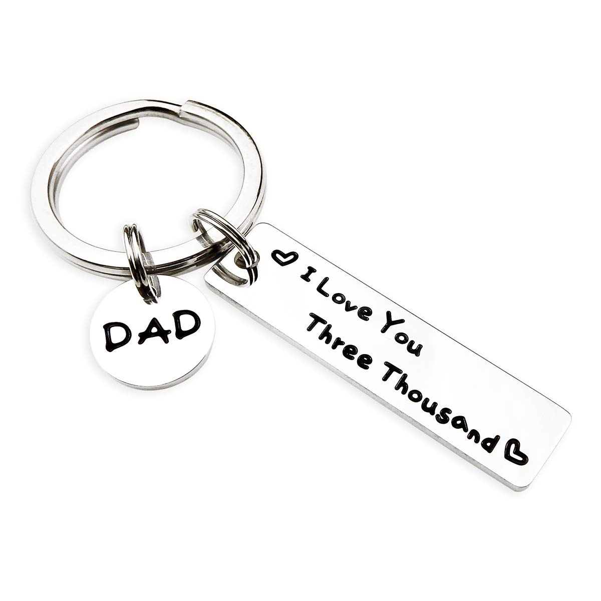Dad Keychain Fathers Day Keychains I Love You Three Thousand from Daughter Son Gifts for Daddy Birthday Gifts