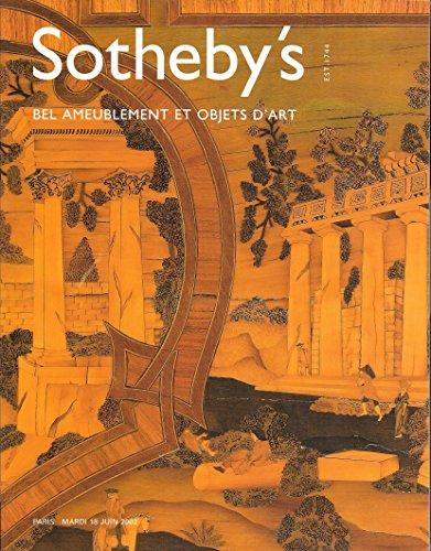 Sotheby's: Bel Ameublement Et Objets D'Art; Paris; June 18, 2002; Sale PF2007 (French Garden Furniture Style)